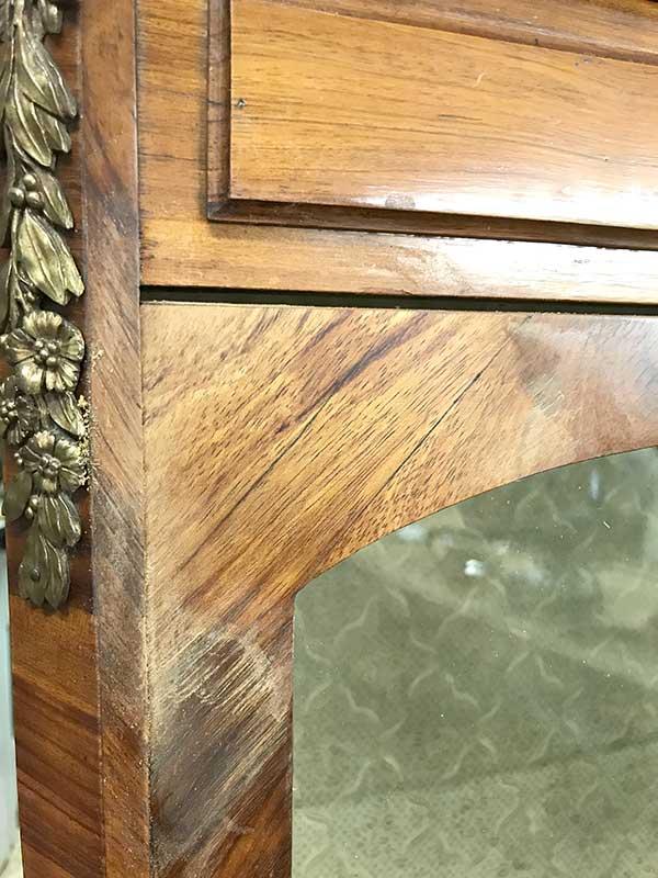 Restauration bibliothèque meuble Napoléon 3 Lyon
