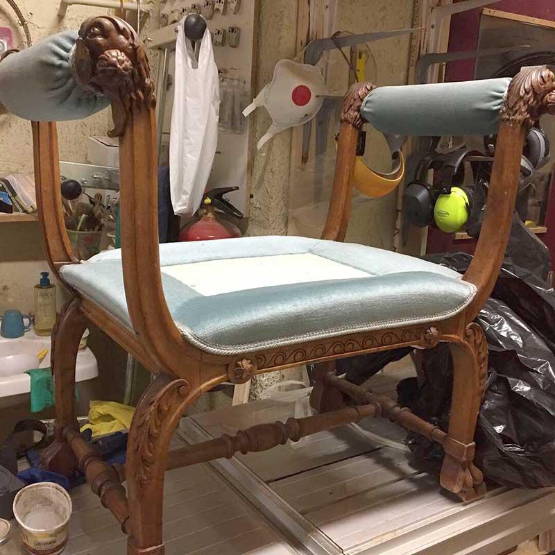 Restauration siège meuble 18e et 19e siècle Lyon 7